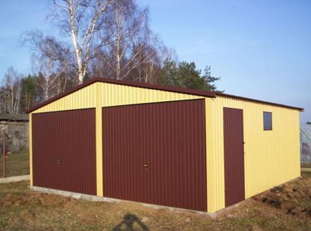 Garaż Dwuspad Premium + drzwi boczne i okno