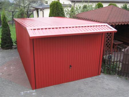 Garaż Premium 5x3 uchylny cały wiśniowy
